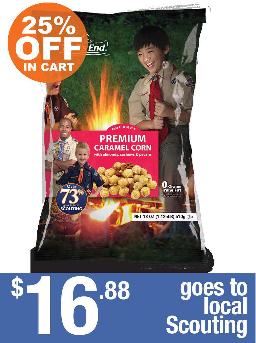 Premium Caramel Corn with Nuts
