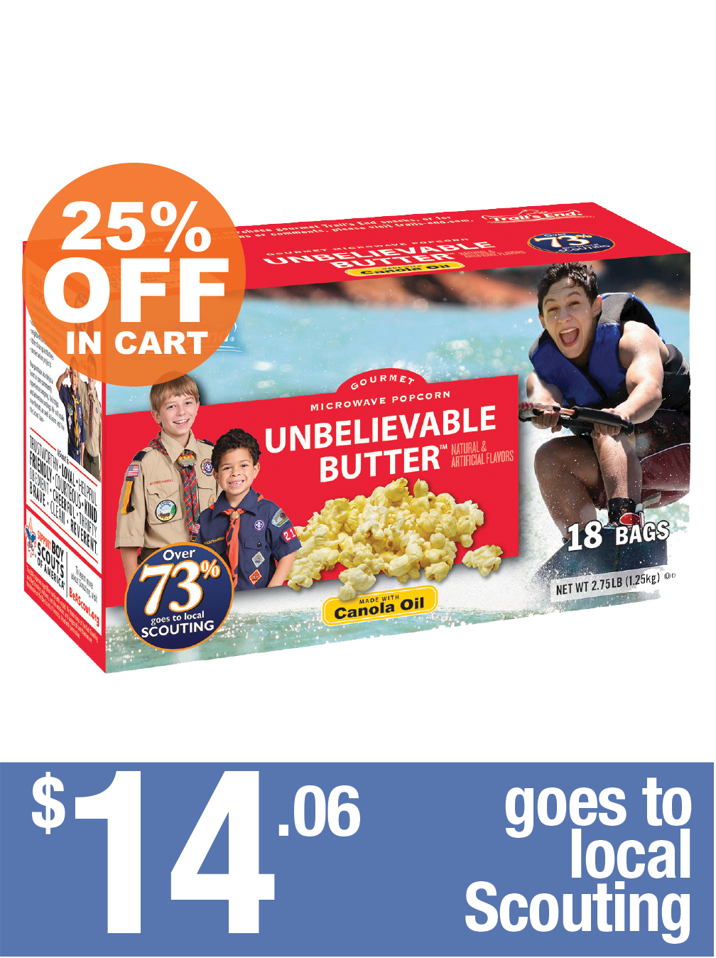 Unbelievable Butter - Microwave 18pk